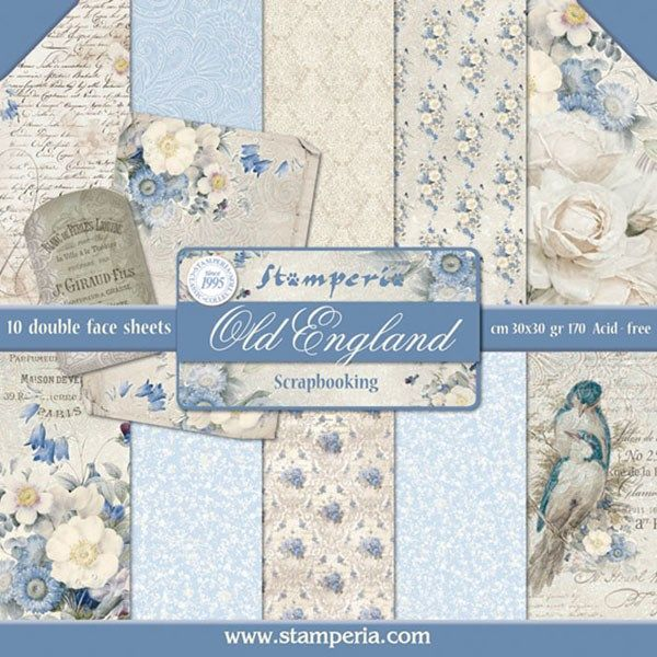 Blocco di carte Scrap New England