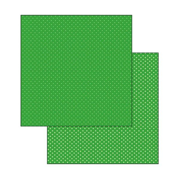 Carta Scrap Pois verde scuro