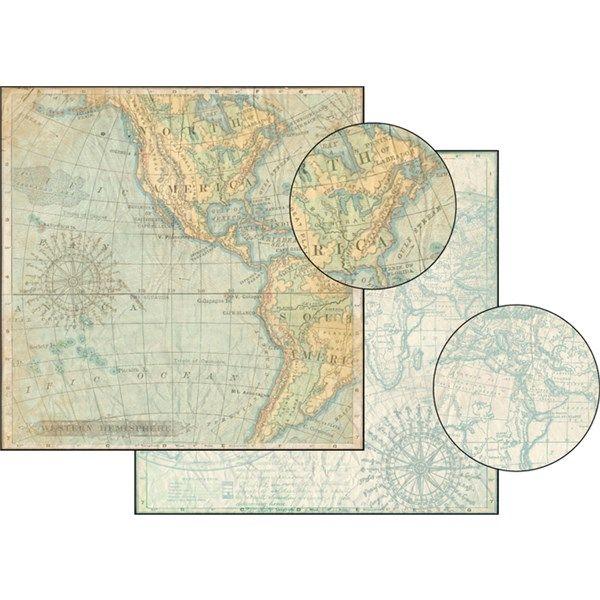 Cartina Giografica.Carta Da Scrap Cartina Geografica Mondo Fai Da Te