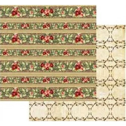 Carta per scrap Bordure rose rosse