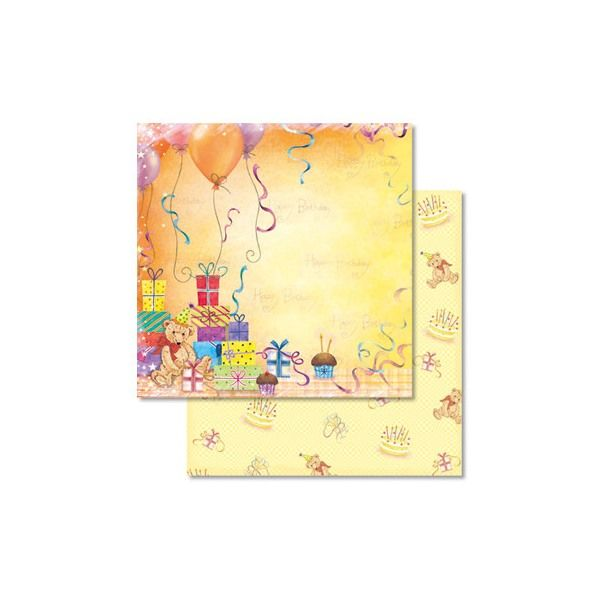 Carta scrap Glitter Orsetto e regali