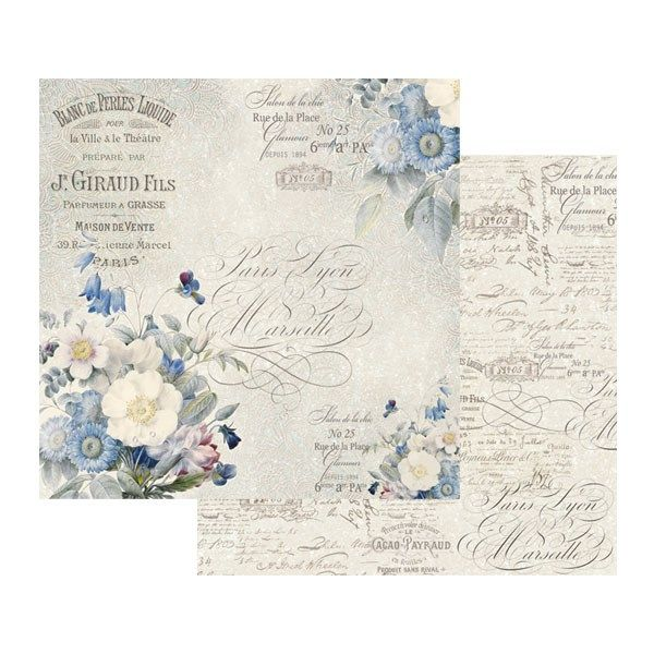 Carta scrap New England Bouquet