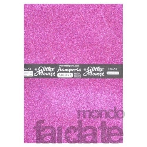 Glitter Mousse Adesiva Fucsia fashion