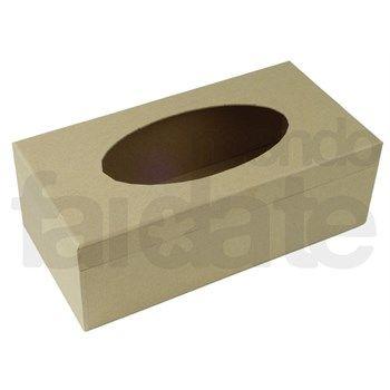 All Chic Scatola Porta fazzoletti Smaltata a Forma di cubo
