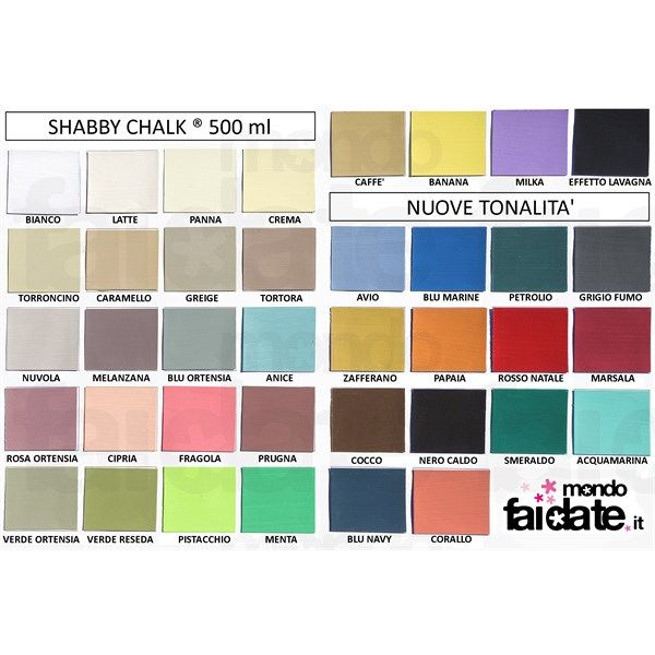 Shabby Chalk Nero Caldo ml 500